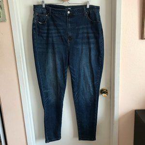Fashion Nova Dark Blue Wash High Rise Stretch Jean